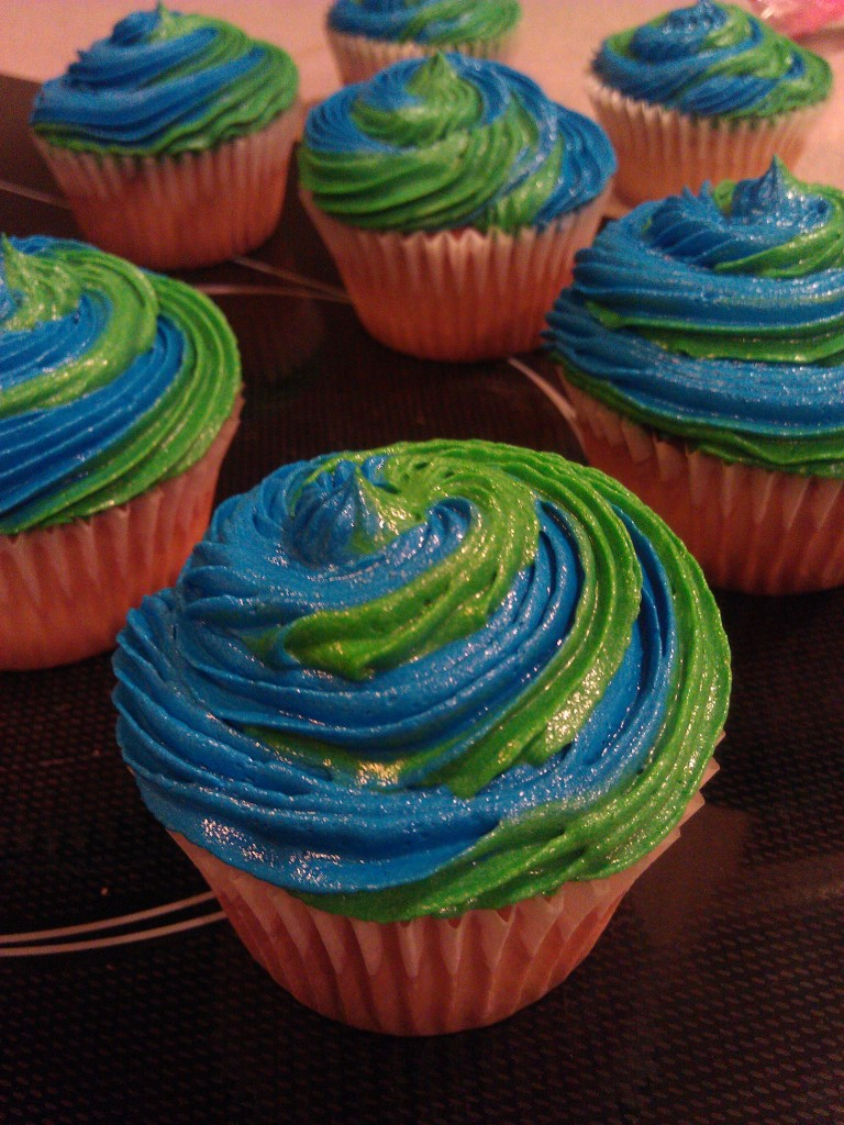 Earth Day Cupcakes Cake