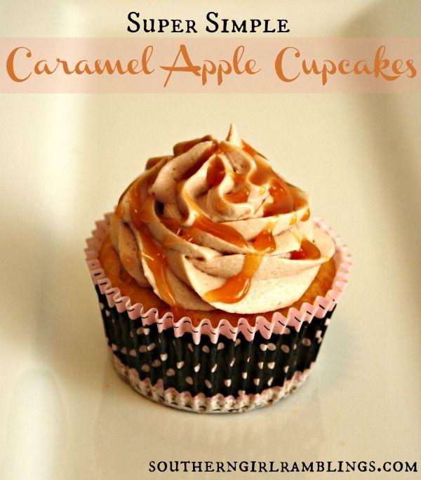 Easy Caramel Apple Cupcakes