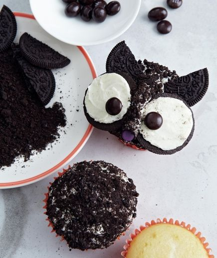 Easy Owl Cupcakes For Halloween - Use