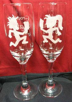 Engraved Wedding Champagne Flutes