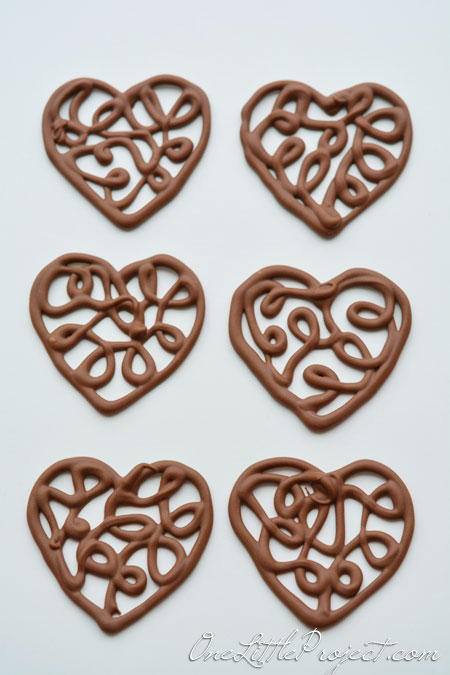 Filigree Chocolate Heart Cupcakes