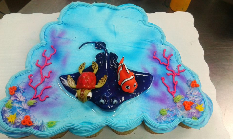Finding Nemo Cupcake Cake