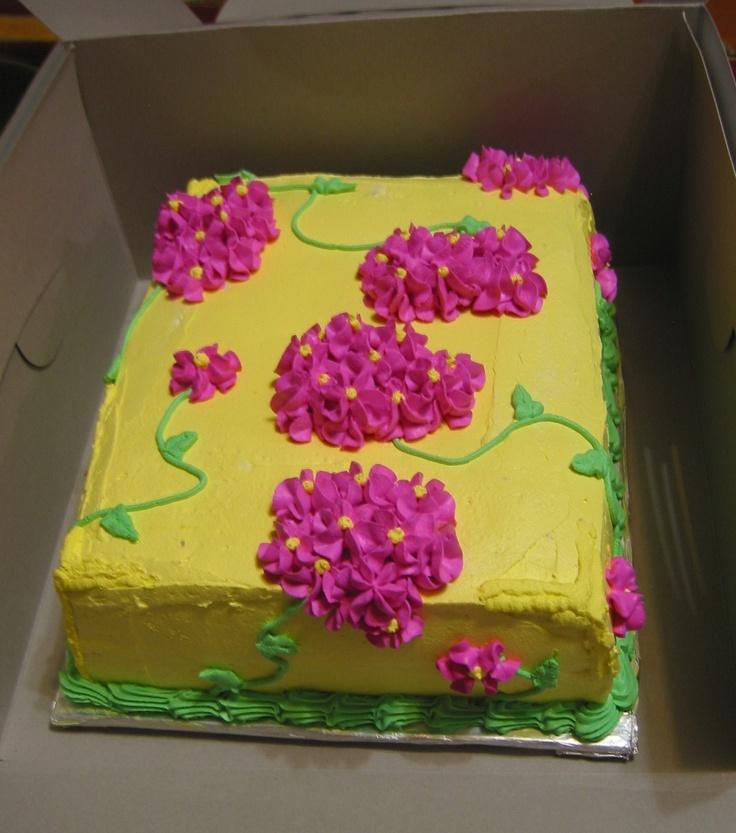 Flower Sheet Cake