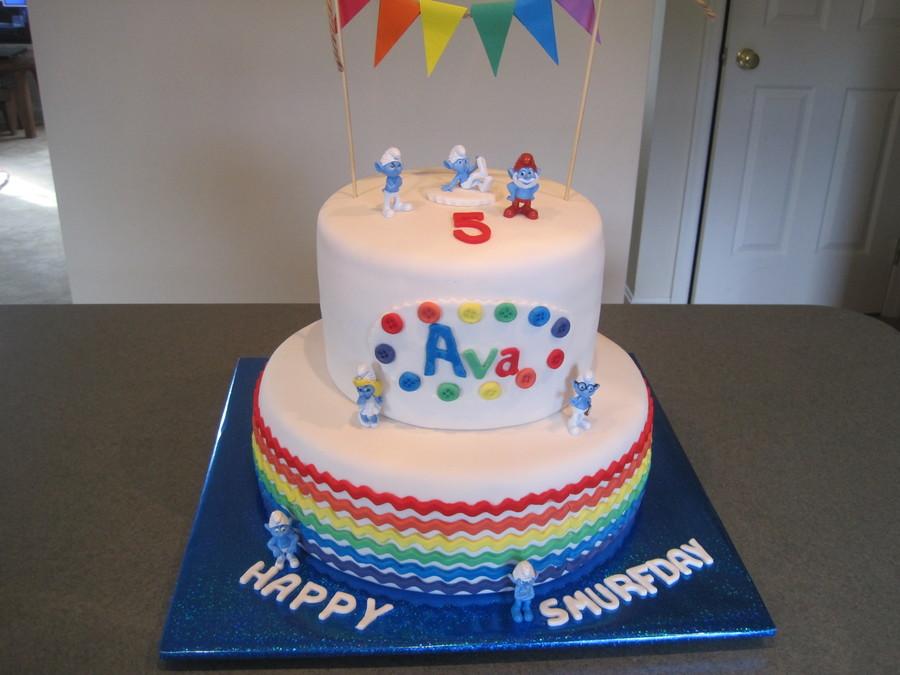 Gay Pride Rainbow Cake