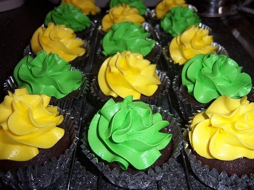 Green Cupcakes Recipe for Ally's Army at the Men's Soccer