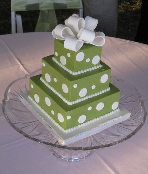 9 Photos of Square Cakes With Polka Dots