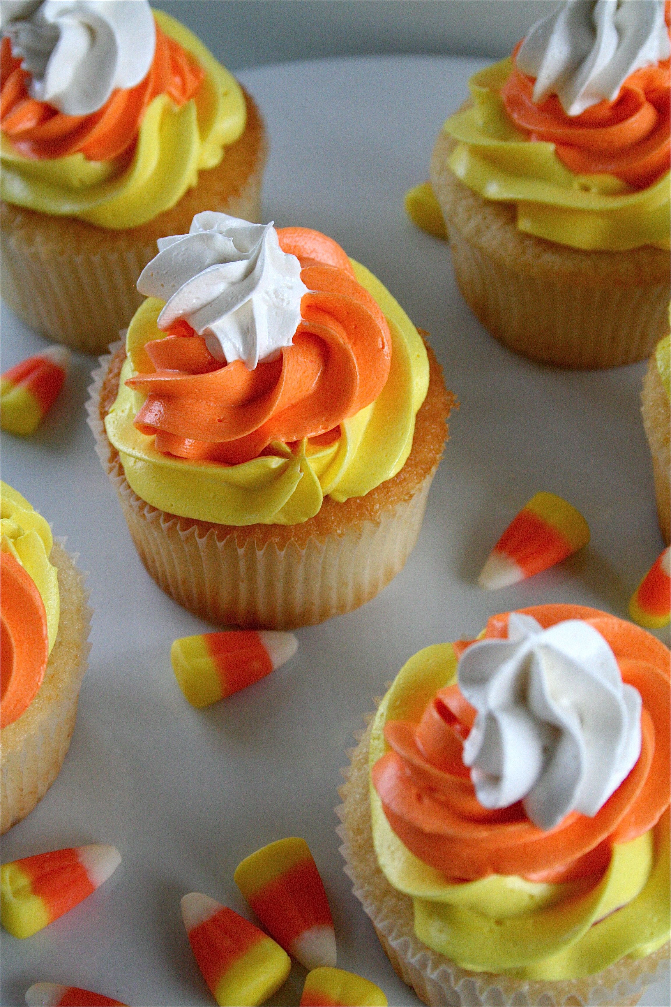 Halloween Candy Corn Cupcakes Recipe