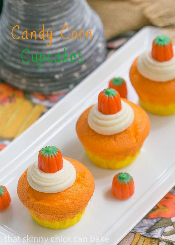 Halloween Candy Corn Cupcakes Recipe