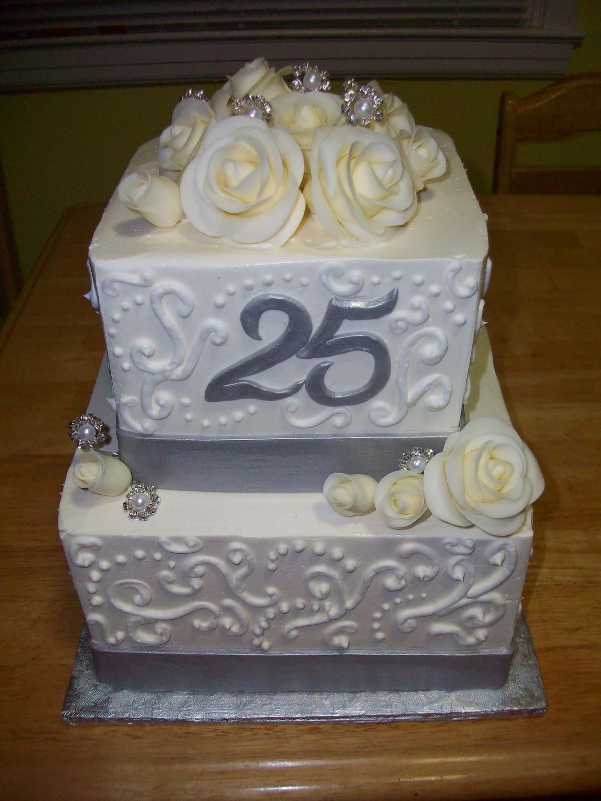 Happy 25th Wedding Anniversary Cakes