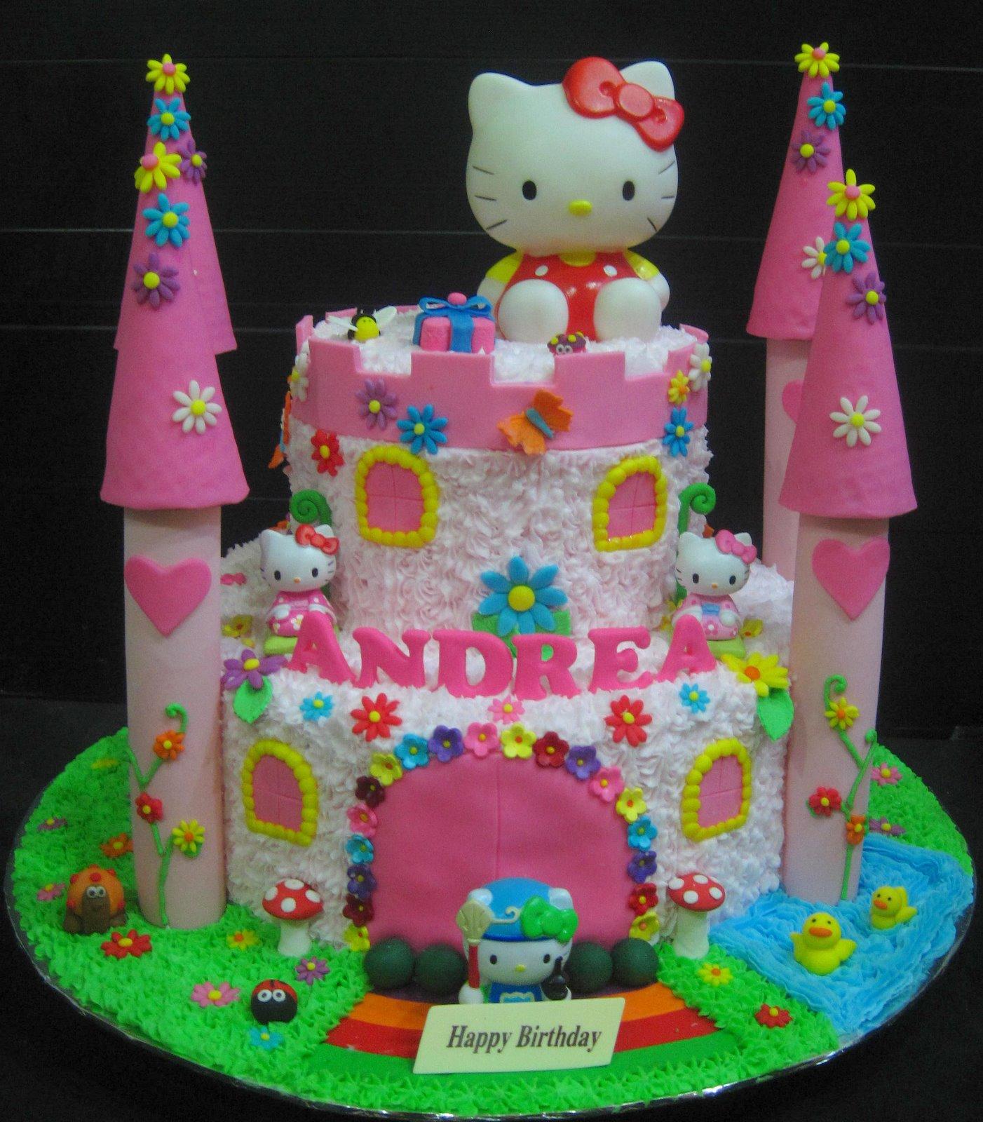 Wondrous 7 Hello Kitty Castle Birthday Cakes Photo Hello Kitty Castle Personalised Birthday Cards Paralily Jamesorg