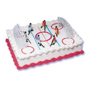 Amazing 5 Hockey Figurines For Cakes Photo Hockey Birthday Cake Funny Birthday Cards Online Benoljebrpdamsfinfo