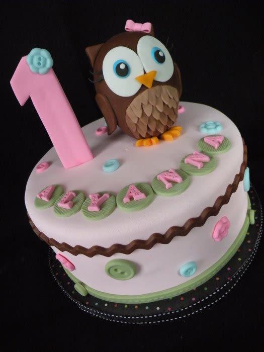 Hoot Owl Birthday Cake