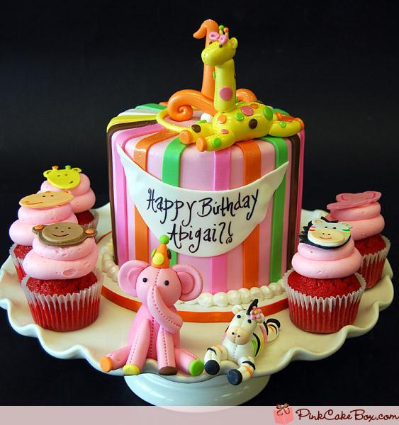 Jungle Theme Cupcake Birthday Cake