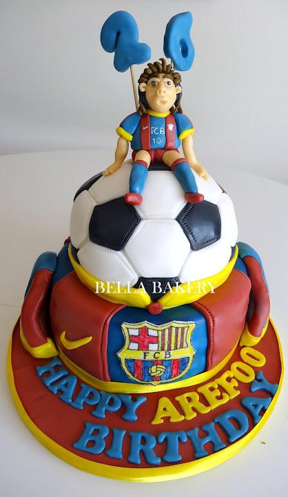 Messi Barcelona Cake