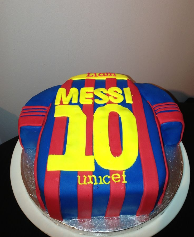 Messi Birthday Cake