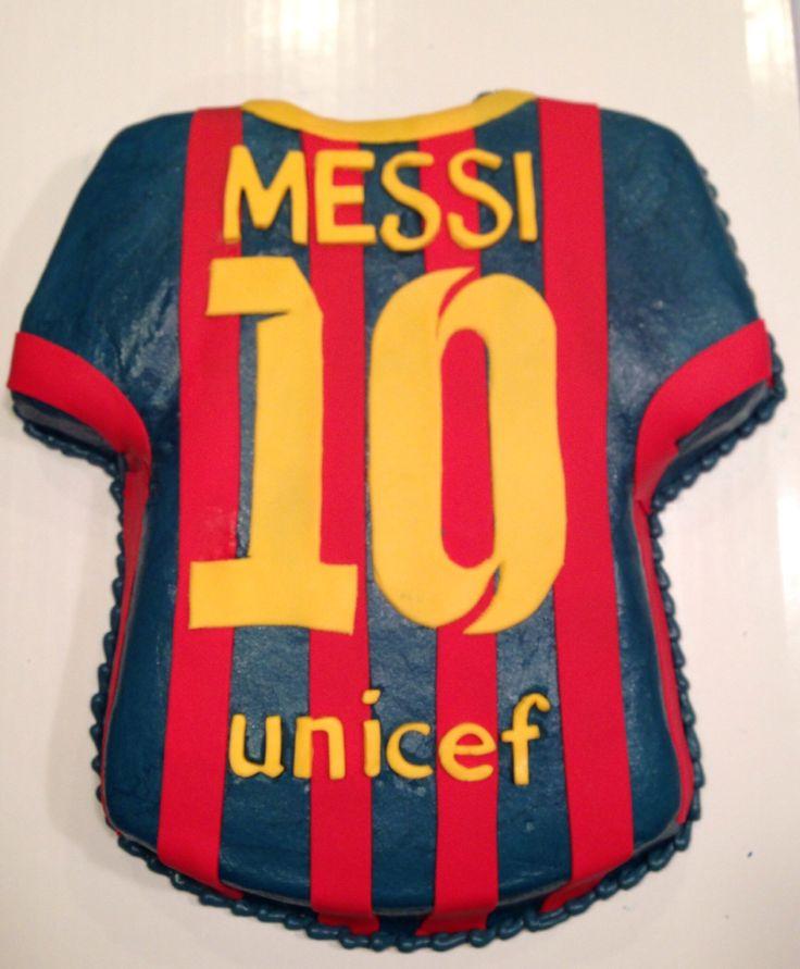 Messi Soccer Jersey Cake