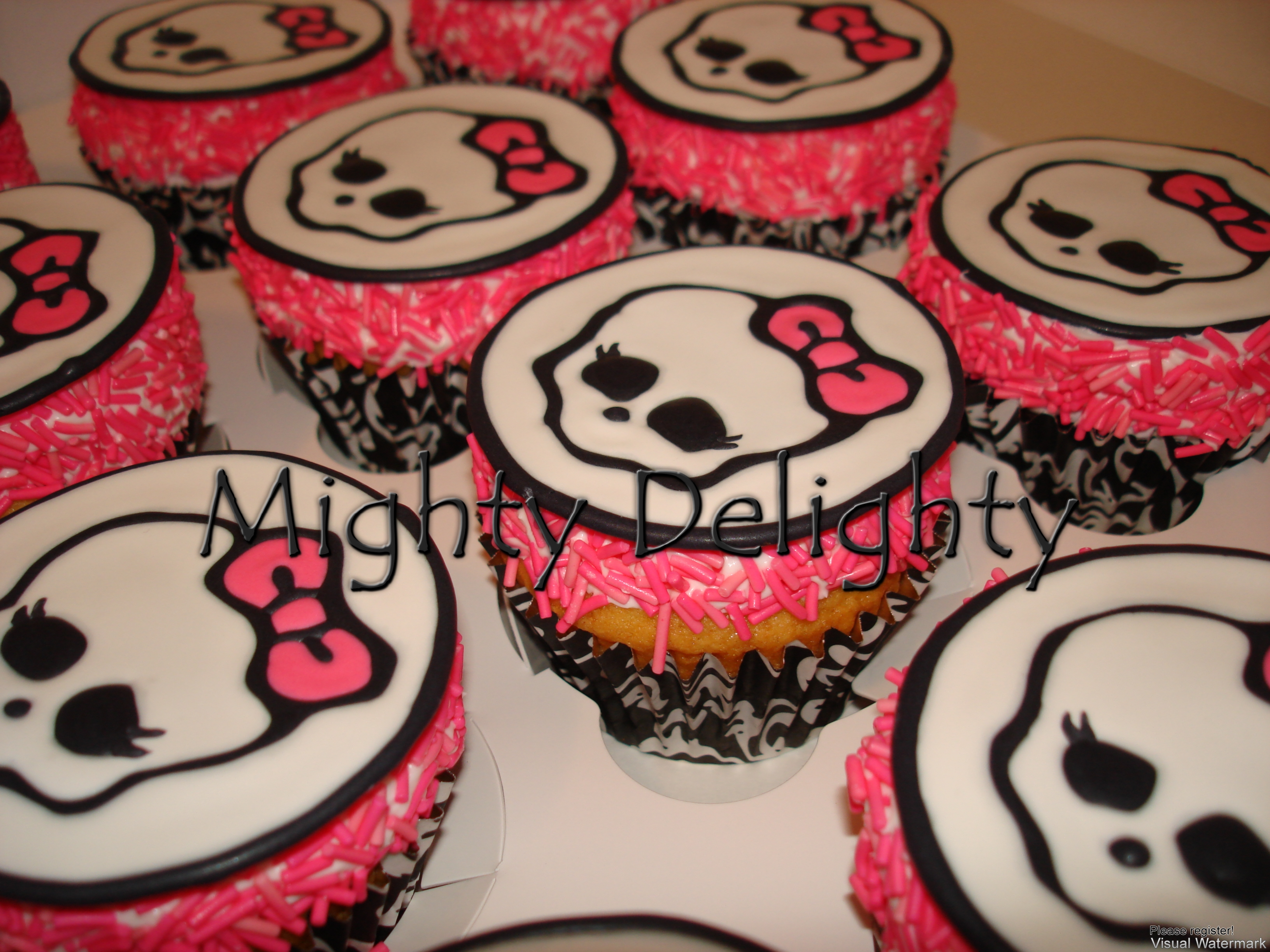 Monster High Birthday Cupcakes