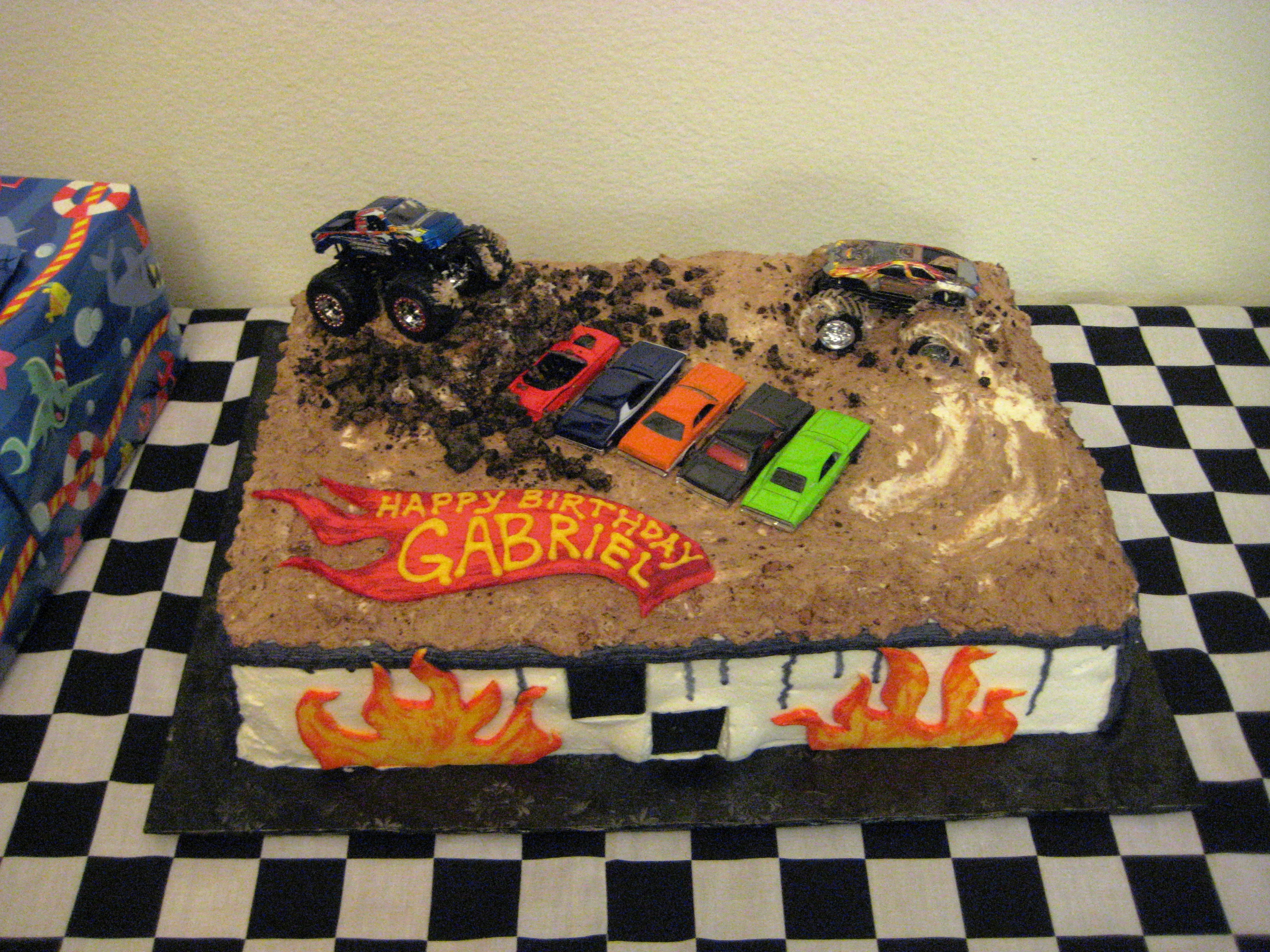 Monster Truck Birthday Cake Idea