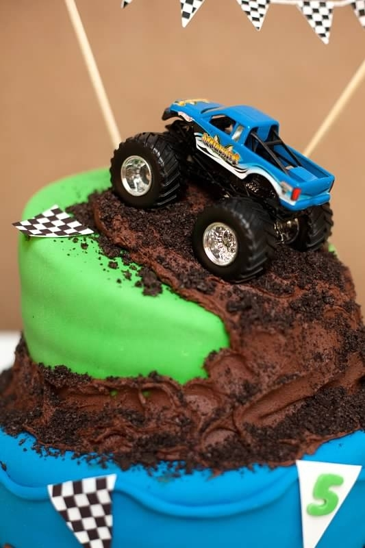 Monster Truck Birthday Party Cake
