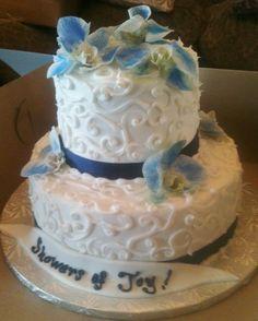 Navy Blue Bridal Shower Cakes
