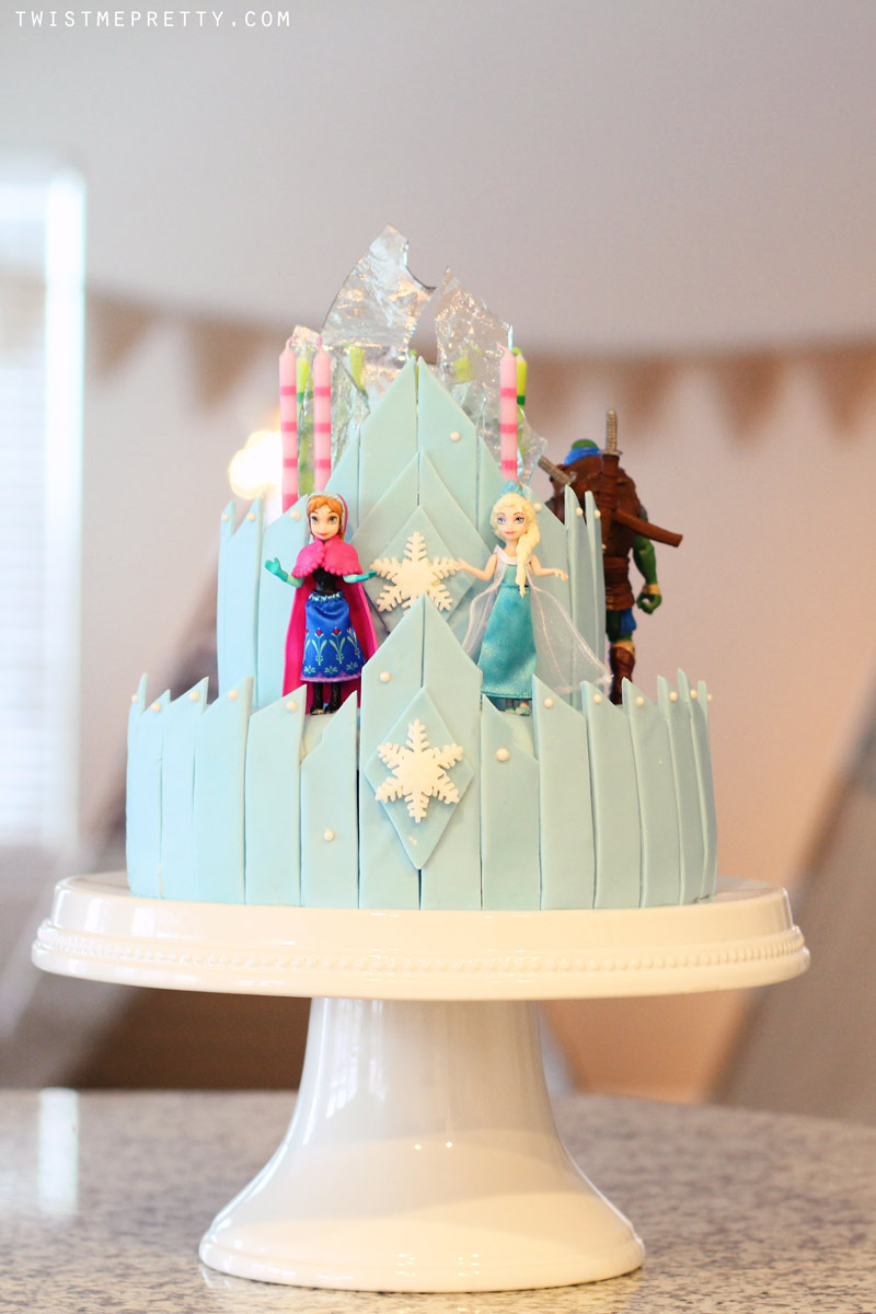 Ninja Turtle Birthday Cake and Frozen