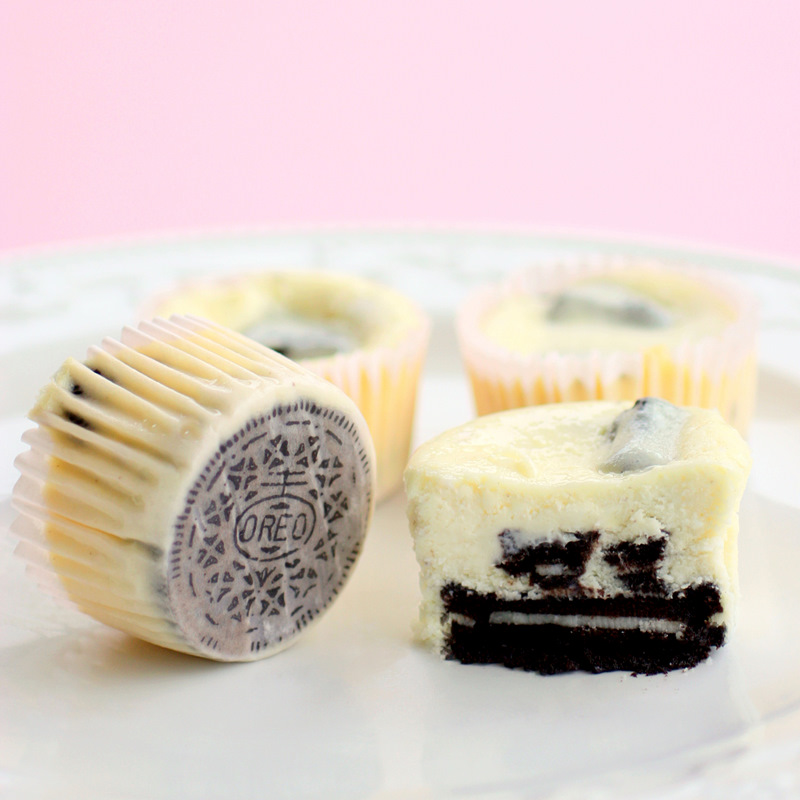 Oreo Cookies and Cream Cheesecakes
