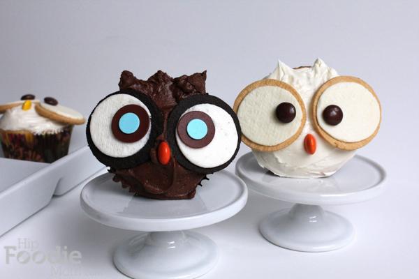 Owl Vanilla Funfetti Cupcakes
