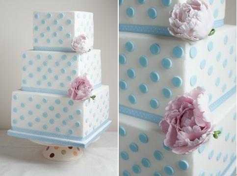 Polka Dot Wedding Cake