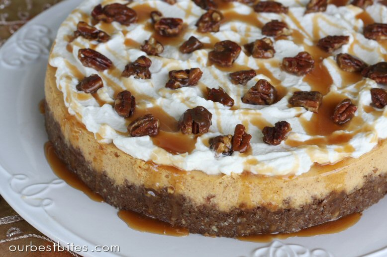 Pumpkin Cheesecake with Pecans