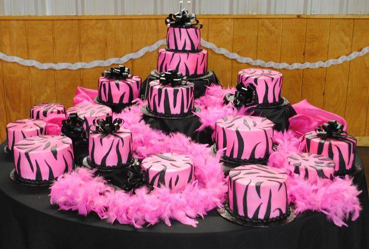 Quinceanera ZEBRA Cake