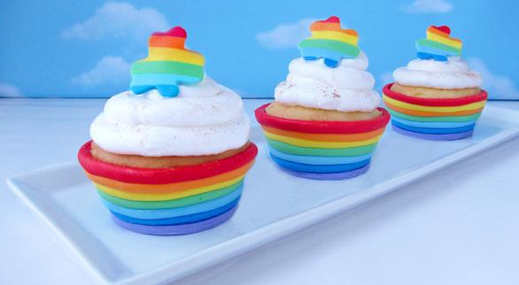 Rainbow Edible Cupcake Wrappers