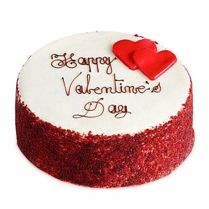 Red Velvet Valentine Cakes