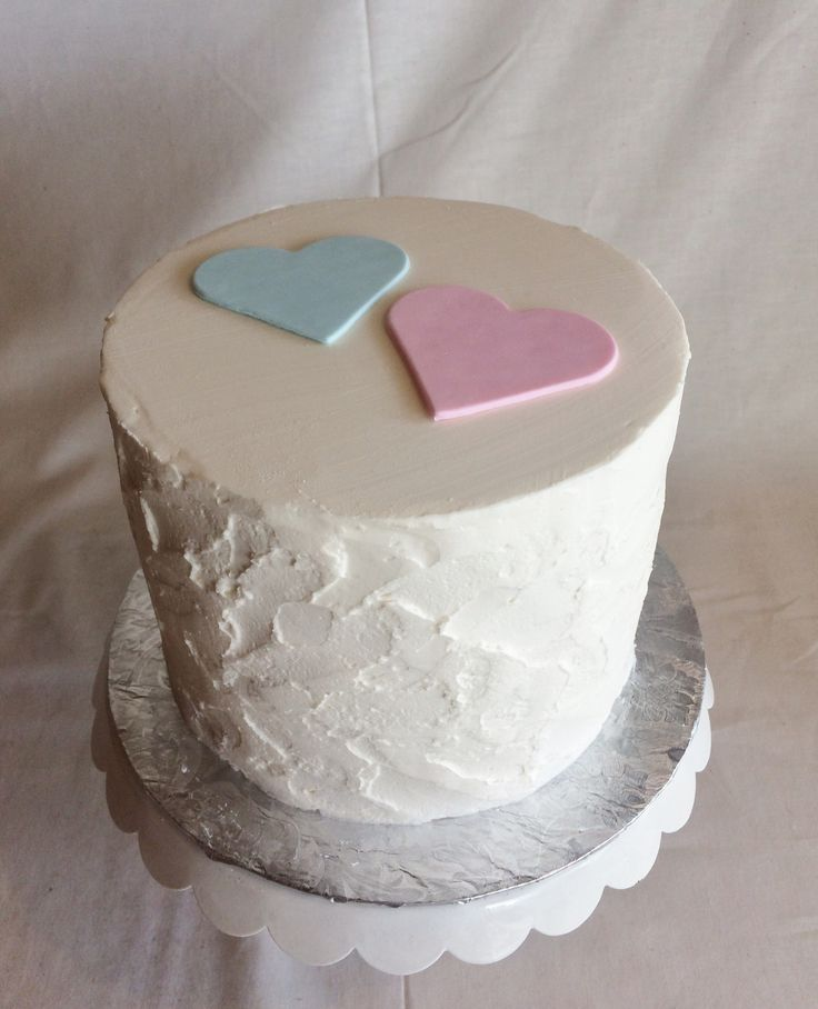 Simple Gender Reveal Cake