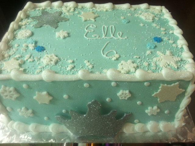 Snowflake Sheet Cake