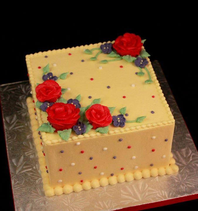 Square Polka Dot Cake