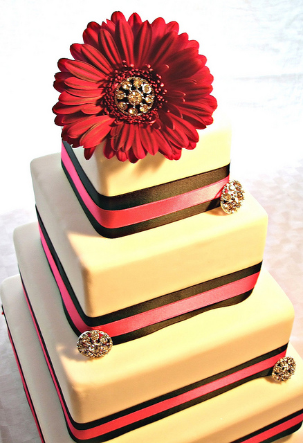 Square Stacked Wedding Cake