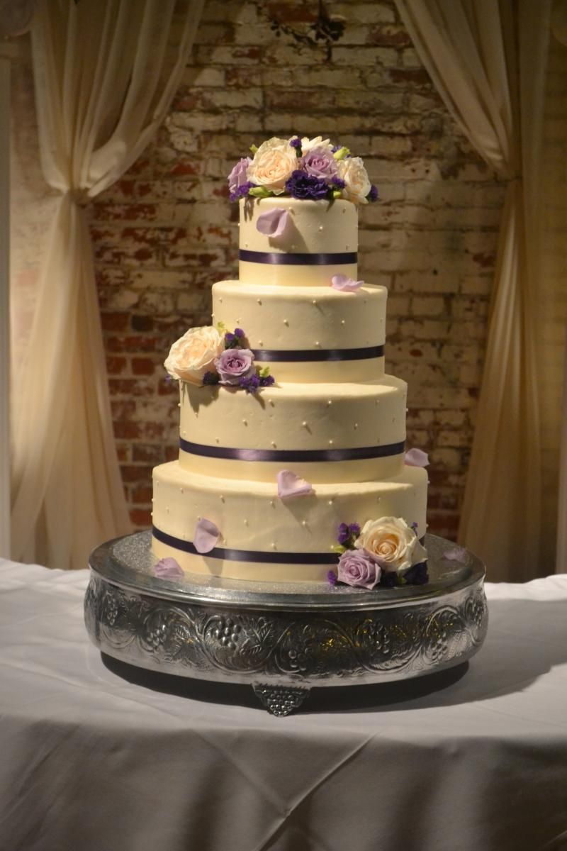 Stacked Wedding Cake Tier Sizes