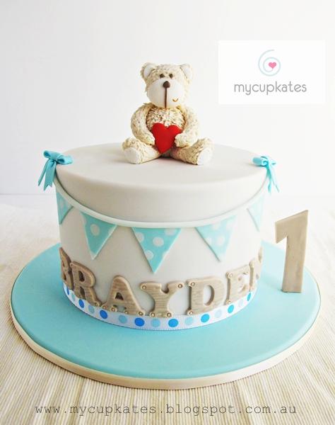 Terrific 10 Teddy Bear 1St Birthday Cakes Photo Teddy Bear 1St Birthday Birthday Cards Printable Nowaargucafe Filternl