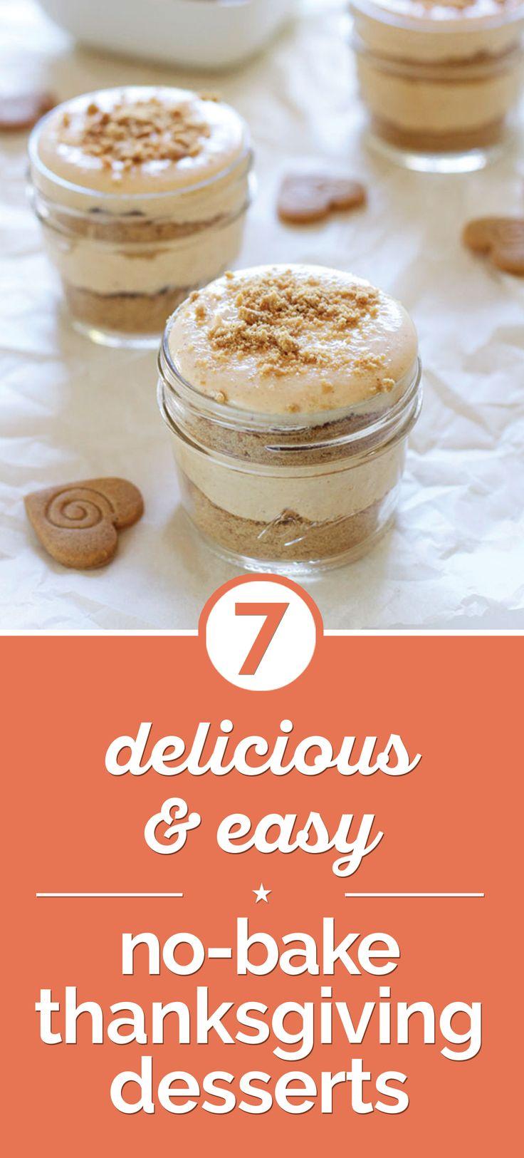 Thanksgiving No-Bake Dessert Recipes