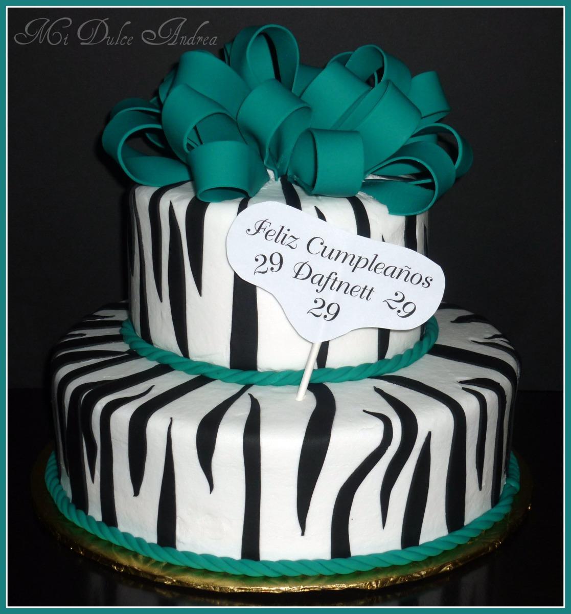 Turquoise Zebra Print Cakes