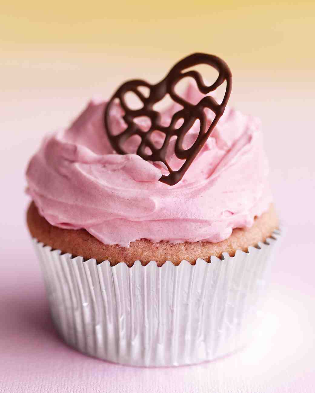 Valentine Chocolate Heart Cupcakes