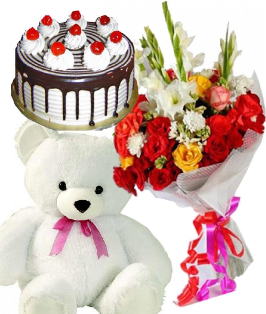Valentine Flower Basket Cake