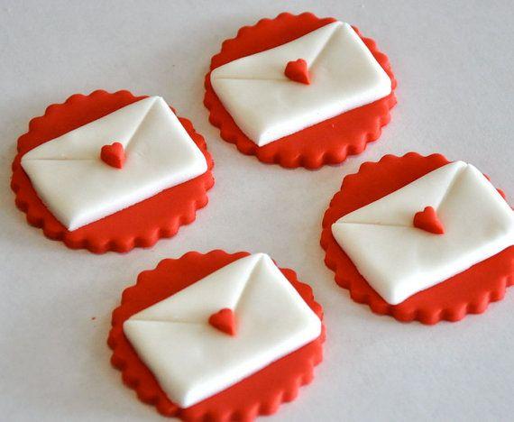 Valentine Fondant Cupcakes
