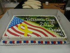 Veterans Day Cake Decorations