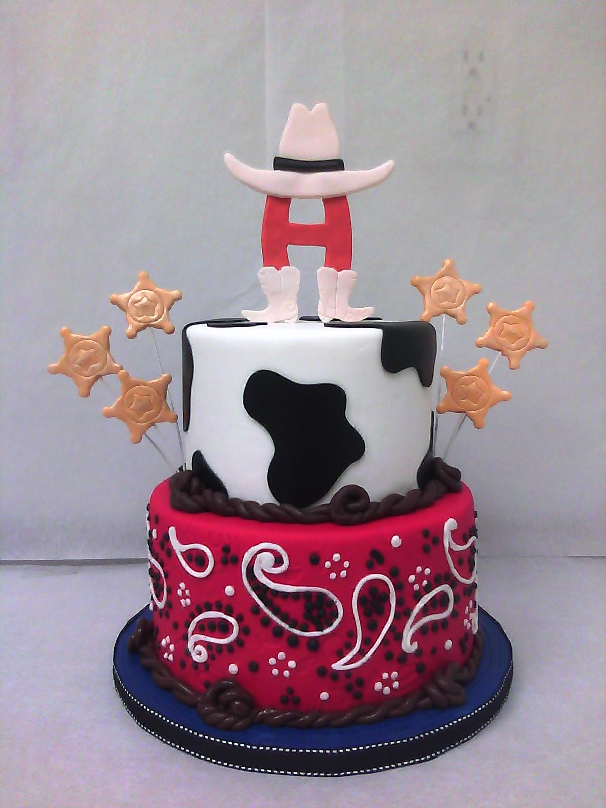 Western Cowboy Birthday Cake