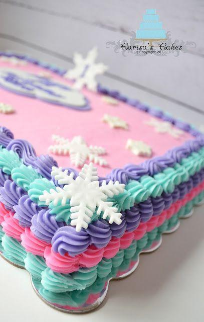 Winter Birthday Sheet Cake