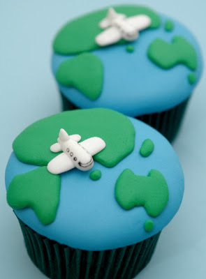 World Traveler Cupcakes