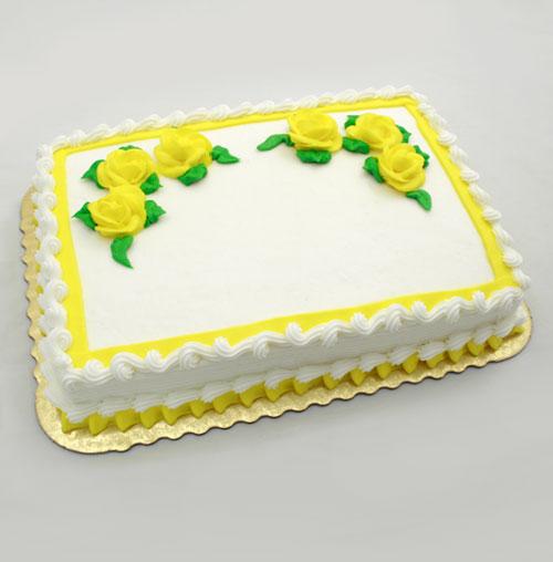 Yellow Roses Sheet Birthday Cakes