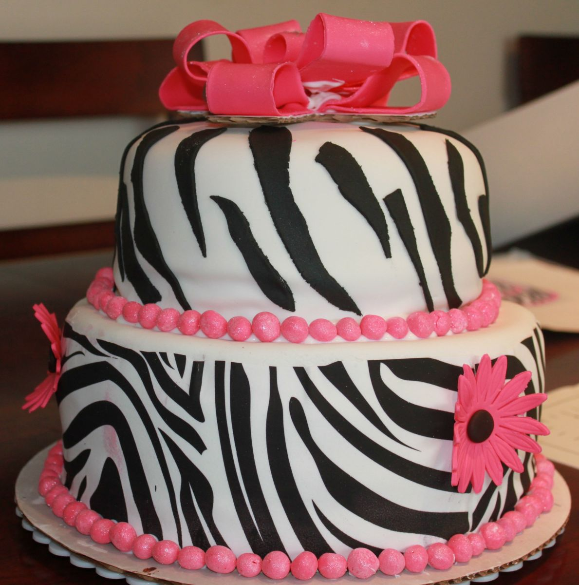 Zebra Cake Decorating