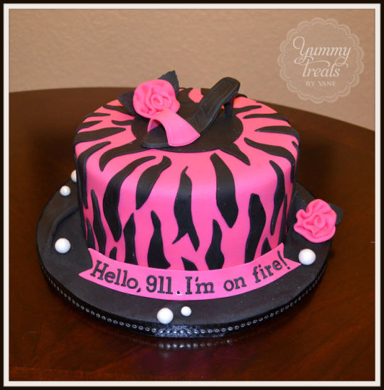 Zebra Decorated Cake